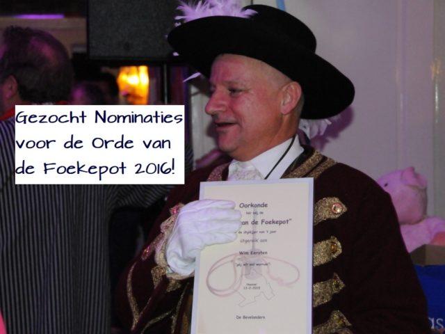 Gezocht: nominaties 17e Orde van de Foekepot