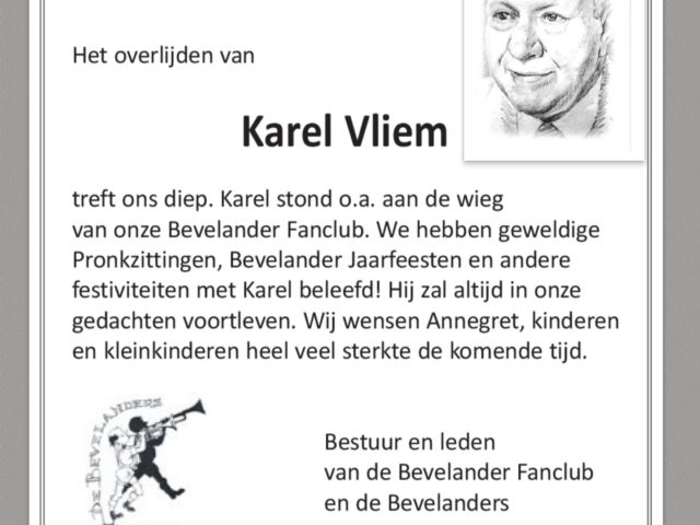 In memoriam Karel Vliem